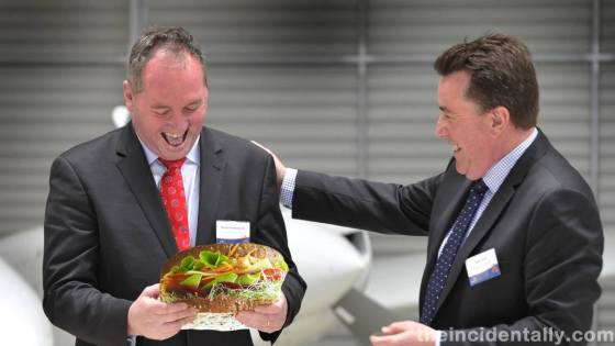 Barnaby Joyce and a giant salad sandwich